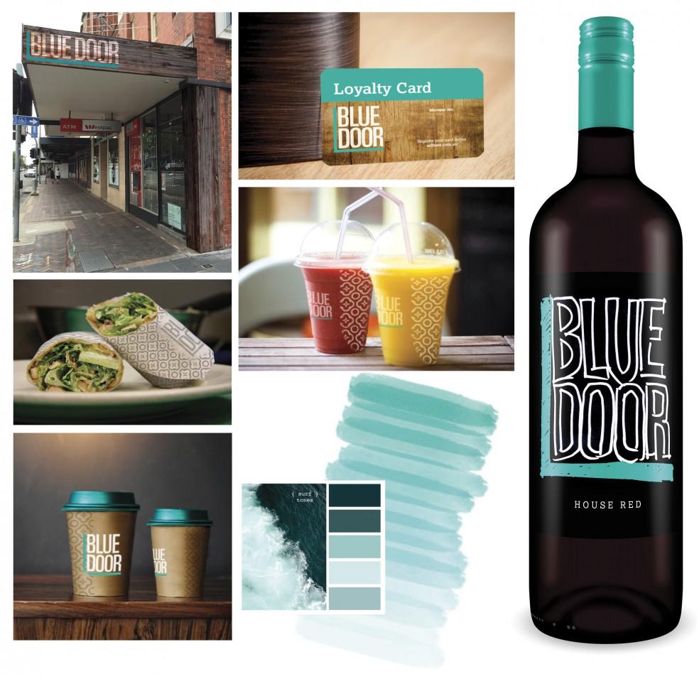 blue-door-collage