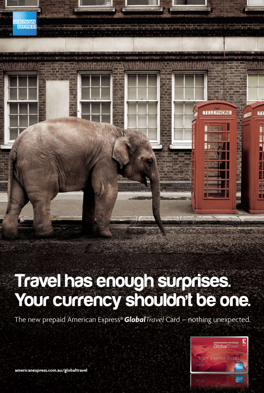case studies american express global travel card elephant - Global Travel Card